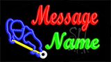 Custom Pool Player Logo Neon Sign