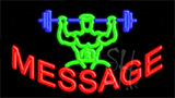 Custom Weight Lifter Logo Neon Sign