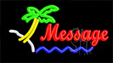 Custom In Red Palm Tree Neon Sign