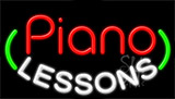 Piano Lessons Neon Sign