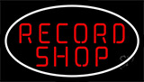 Red Record Shop Block 2 Neon Sign