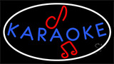 Blue Karaoke Red Musical Note Neon Sign