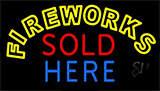 Fireworks Sold Here Neon Sign
