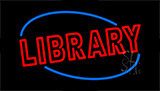 Double Stroke Library Neon Sign