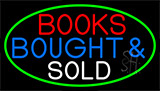 Red Books Bought And Sold Neon Sign
