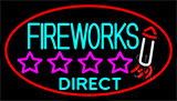 Fire Work Direct 2 Neon Sign