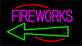 Fireworks With Arrow 2 Neon Sign