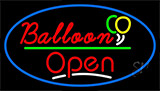 Open Balloon Green Line Neon Sign