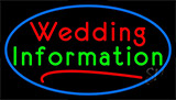 Wedding Information Neon Sign