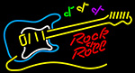 Rock N Roll Yellow Guitar Neon Sign
