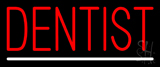 Red Dentist White Line Neon Sign