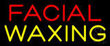 Red Facial Yellow Waxing Neon Sign