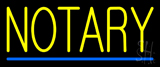 Yellow Notary Blue Line Neon Sign