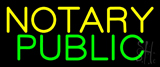 Yellow Notary Public Neon Sign