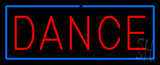 Red Dance Blue Border Neon Sign
