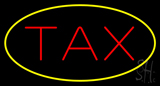 Tax Yellow Border Neon Sign