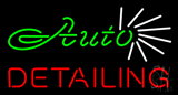 Green Auto Red Detailing Neon Sign