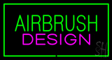 Green Airbrush Design Pink Green Border Neon Sign