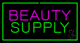 Pink Beauty Green Supply Green Border Neon Sign
