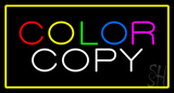 Color Copy With Yellow Border Neon Sign