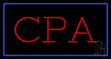 Cpa Rectangle Blue Neon Sign