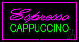 Pink Espresso Cappuccino Rectangle Pink Neon Sign