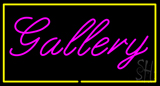 Purple Gallery Yellow Rectangle Neon Sign