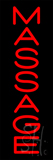 Vertical Red Massage Neon Sign