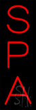 Red Vertical Spa Neon Sign