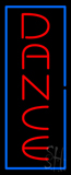 Vertical Red Dance Blue Border Neon Sign