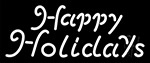 White Happy Holidays Neon Sign