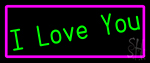 Green I Love You Neon Sign
