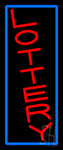 Vertical Red Lottery Blue Border Neon Sign