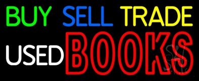 Buy Sell Trade Used Books Neon Sign