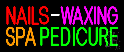 Nails Waxing Spa Pedicure Neon Sign