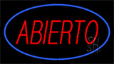 Abierto Blue LED Neon Sign