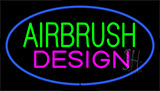 Green Airbrush Design Pink Blue Neon Sign