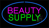 Pink Beauty Green Supply Blue Border Neon Sign