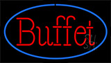 Red Buffet Blue LED Neon Sign