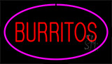 Burritos Pink LED Neon Sign