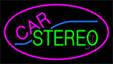 Car Stereo With Pink Border Neon Sign