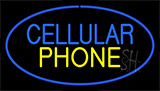Cellular Phone Blue Neon Sign