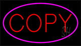 Red Copy Pink Neon Sign
