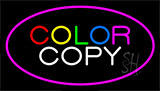 Color Copy Pink Neon Sign