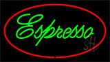 Green Espresso Red Neon Sign