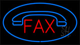 Fax Blue With Logo Neon Sign