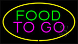Food To Go Yellow LED Neon Sign
