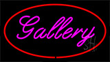 Purple Gallery Red Neon Sign