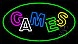 Games Green Neon Sign