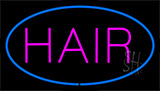 Pink Hair Blue Neon Sign